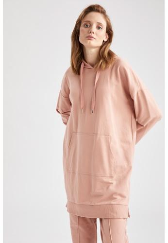 DeFacto pink Long Sleeve Sweatshirt Tunic 1F862AA3BBADF5GS_1
