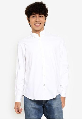 Springfield white Pinpoint Shirt FEF7BAAEE396F8GS_1