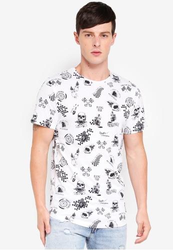 Jack & Jones 白色 短袖印花T恤 5776CAABEAE675GS_1