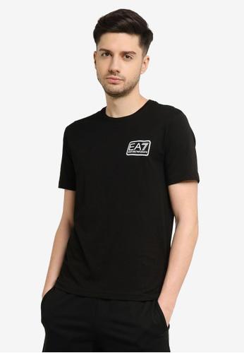 EA7 black Train Core Id Pima Cotton Logo 2 Tee B71E6AADF9A770GS_1