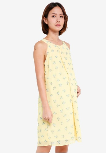 Spring Maternity yellow Maternity Halter Yvonne Nursing Dress 35A06AA7C9FABDGS_1