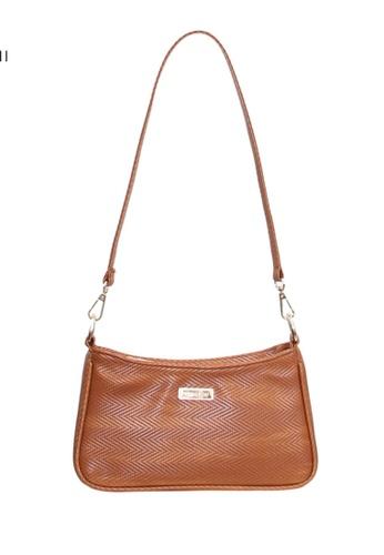 Verchini brown Verchini Mini Sling Bag 5F56CAC382A011GS_1