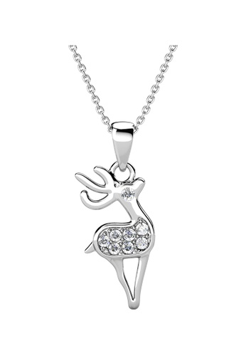 Her Jewellery white Her Jewellery Deerly Pendant with Necklace Chain (White Gold) embellished with Crystals from Swarovski D2194AC607CBAEGS_1