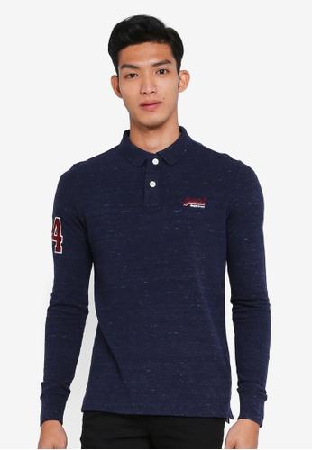 Superdry blue Classic Pique Polo Shirt 65C31AA8AF9D2FGS_1