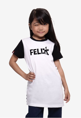 SODA white Felix The Cat Contrasting Tee - White B5411KAEF1E5B0GS_1