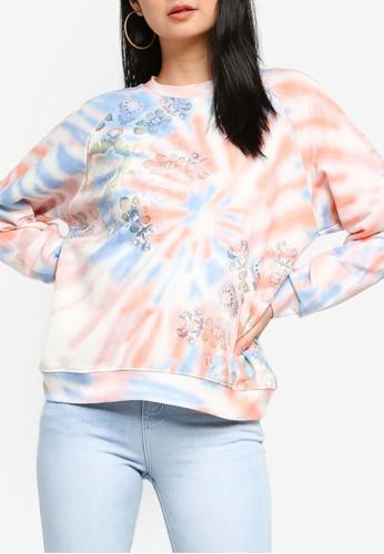 Desigual multi Tie Dye Printed Sweatshirt E3F3BAA73DCD79GS_1