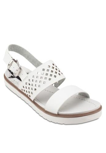 雕花esprit 品牌繞踝涼鞋, 女鞋, 鞋