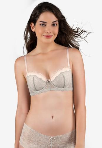 Dorina pink and grey Layla Balcony Bra 83235USB6D2978GS_1