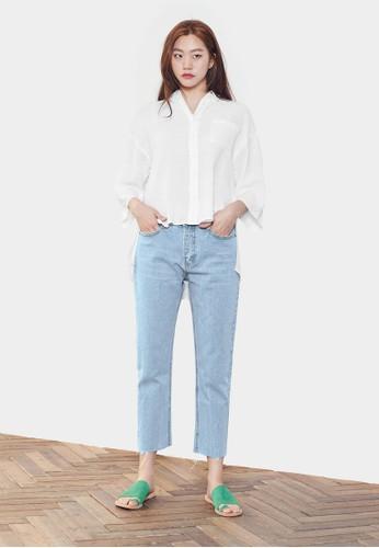 輕度水洗直筒丹寧長褲,esprit香港門市 服飾, 牛仔褲