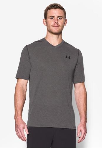 Under Armour green UA Threadborne V-Neck T-Shirt UN337AA0SU2TMY_1