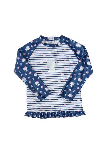 August Society blue Hello Kitty Girls' Rash Guard - Blue C19D3KA968477EGS_1