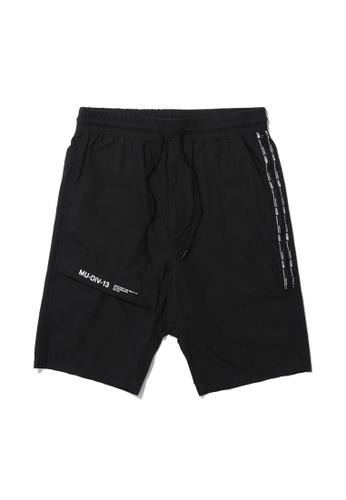 MUSIUM DIV black Side zip cargo shorts C1C59AA432C1AEGS_1