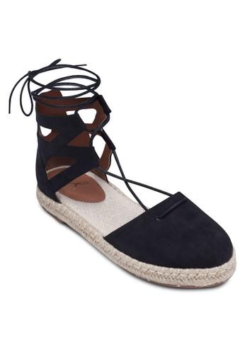 包頭繫帶羅馬涼鞋, 女esprit hong kong 分店鞋, 涼鞋