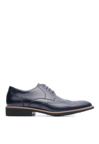Life8 black Lightweight Wax Cow Leather Embossing Derby Shoes-09216-Black LI286SH39USEMY_1