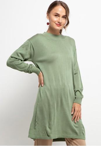 Triset Ladies green Varya Sweater ECCACAAE4BA3C5GS_1