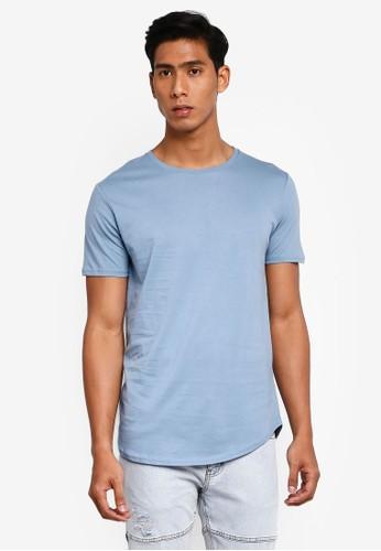 Factorie blue Curved T Shirt 8D846AAB46B165GS_1