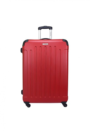 "Calvin Klein Calvin Klein Littleton  20"" 4 wheels Hard Case Luggage - Red CA221AC99PYASG_1"
