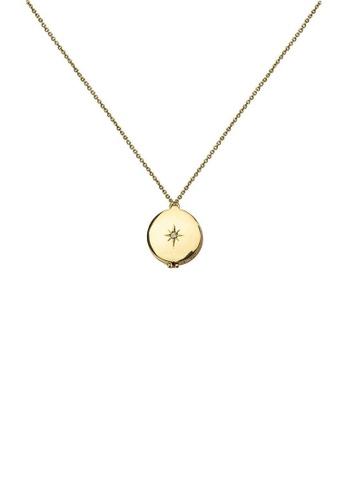 Kitsch gold Star Aromatherapy Locket 38626AC6E1C214GS_1