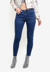 Something Borrowed blue Scallop Hem Skinny Jeans 2A32CZZC6A3D83GS_1