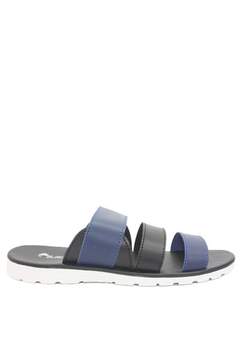 Dr. Kevin black and blue Dr. Kevin Men Sandals 97198 - Blue/Black 0BA88SHA944446GS_1