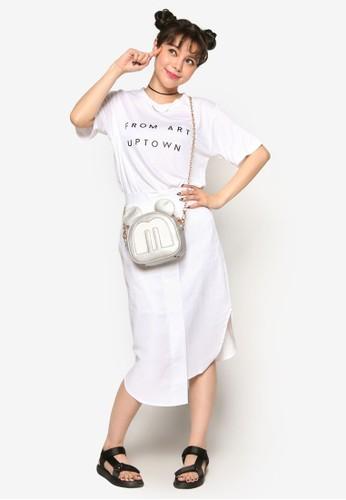 不合錯誤稱裹飾短裙、 服飾、 牛仔褲Stylenanda不合錯誤稱裹飾短裙最新折價