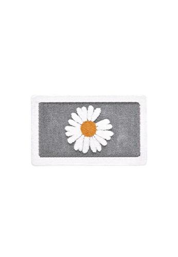 DILAS HOME Daisy Anti-Slip Bath Mat (Grey) - Small 45x65cm 8D278HL228A141GS_1