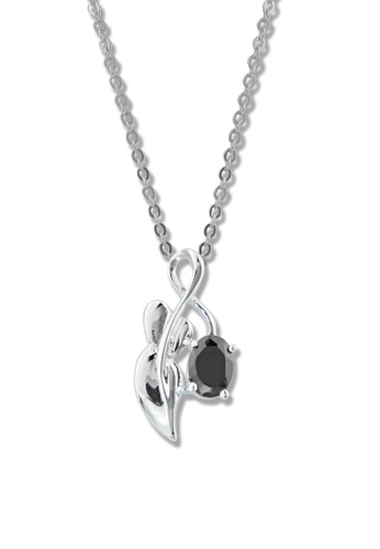 SC Tom Silver silver Infinity Black Stone Pendant with Chain- TPS131 SC872AC73MBUPH_1