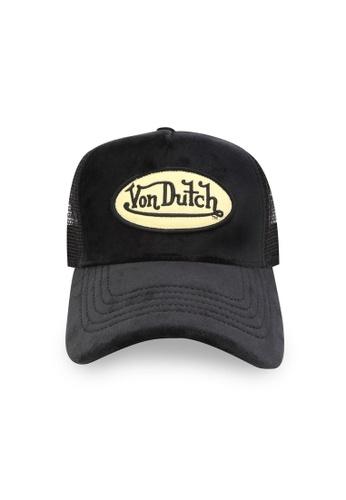 Von Dutch black Von Dutch Black Velvet Trucker Cap 06B6FAC491F309GS_1