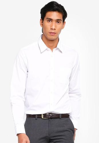 OVS 白色 休閒長袖襯衫 FD261AA32CE22FGS_1