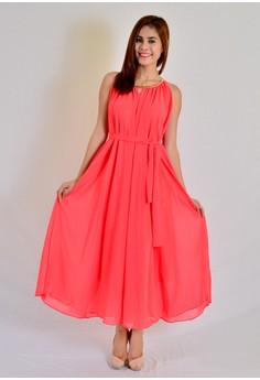 Chiffon Dress W/ Necklace