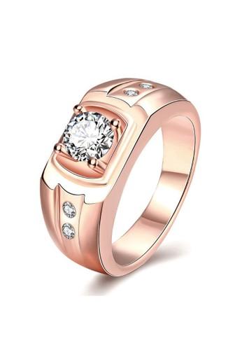 Tiaria pink Tiaria Classic Ring Plated Rose Gold Aksesoris Cincin KZCR141-B-10--K10 0CF06AC4BC5862GS_1