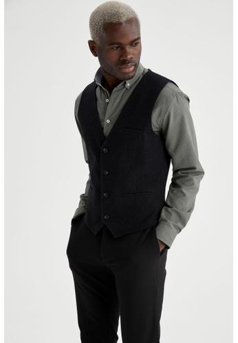 DeFacto grey Slim Vest C2B36AA0FF53DAGS_1