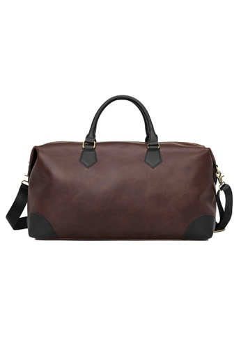 Lara brown Plain Cylinder Handbag Men With A Strap - Brown E46D0AC78F083AGS_1