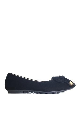 Twenty Eight Shoes 黑色 雙蝶結平底鞋 VL1325 DAC18SH931C673GS_1