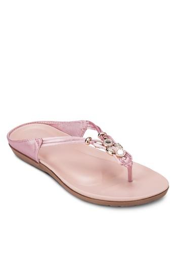 閃飾夾腳拖, 女鞋, 涼esprit品牌介绍鞋