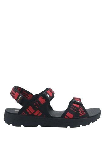 Precise black Precise Grasberg SG Sandal Gunung - Hitam/Merah 68B53SHDE04DA0GS_1