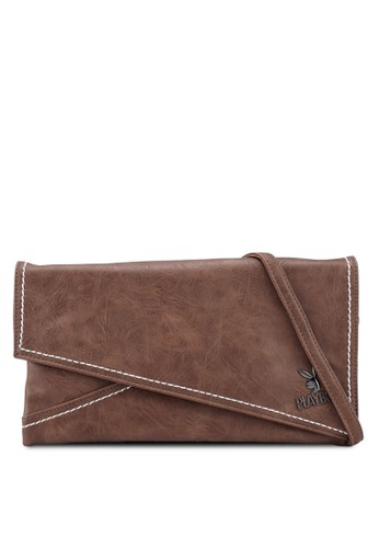 Playboy brown Playboy Clutch Bag 27DECAC712796DGS_1