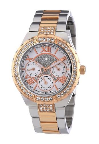 Guess Watch gold Guess Jam Tangan Wanita - Silver Rosegold - Stainless Steel - W0111L4 F9F1DAC291B14FGS_1