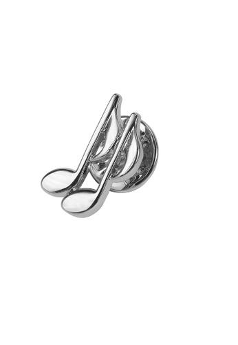 CUFF IT silver Musical Bass Clef Lapel Pins BCD99AC26D69DDGS_1