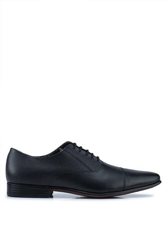 Burton Menswear London black Black Oriel Oxford Shoes C451CSH631E3C1GS_1