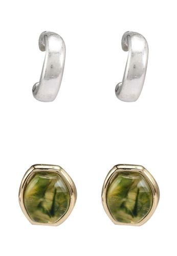 GLOBAL WORK grey 2-Pack Pierce Earrings 4F98FACC304BA6GS_1