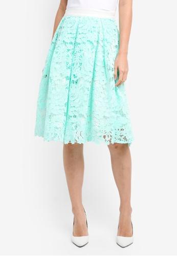 Vesper green Vesper Peony Full Lace Skirt E8FFCAA02F4036GS_1