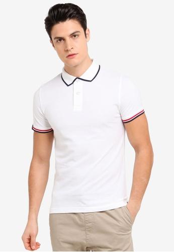 Volkswagen 白色 短袖休閒撞色POLO衫 9667DAAE7F727AGS_1