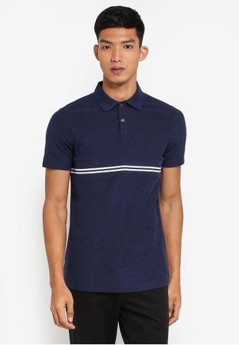 G2000 navy Horizontal Stripe Polo Shirt 499CDAA14DEFB7GS_1