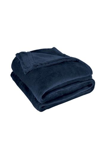Charles Millen grey Suzanne Sobelle Flannel Blanket 937F4HLDBD440AGS_1