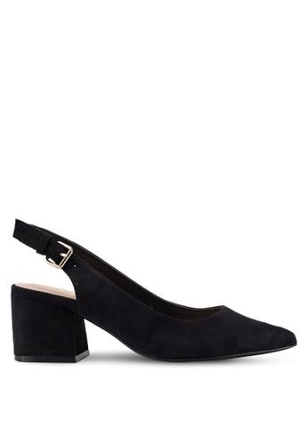 ALDO 黑色 素色麂皮中跟鞋 5443BSH464750CGS_1