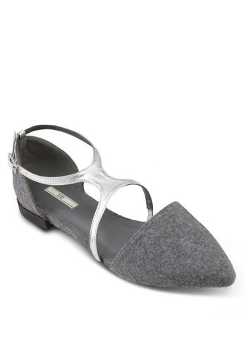 亮面繞踝尖頭平底鞋, 女鞋zalora 包包評價, 鞋