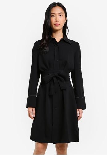 Mango black Bow Belted Dress MA193AA0S6JHMY_1