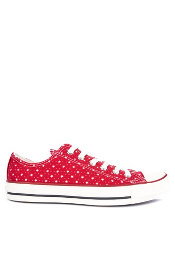 f94b29eda8f4af Converse red Chuck Taylor All Star Perforated Stars Sneakers  3050ASHC2AE4F3GS 1