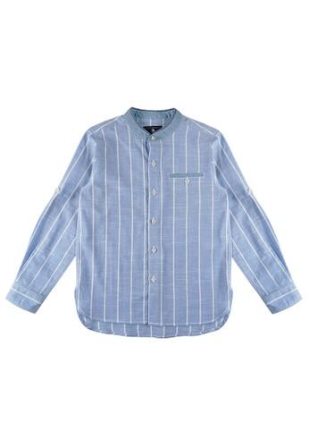 KIDS ICON blue KIDS ICON - Kemeja Lengan Panjang Anak Laki-laki 4-14 Tahun COLOURS with salur motif  - CL500300200 EDE13KAFAB6478GS_1